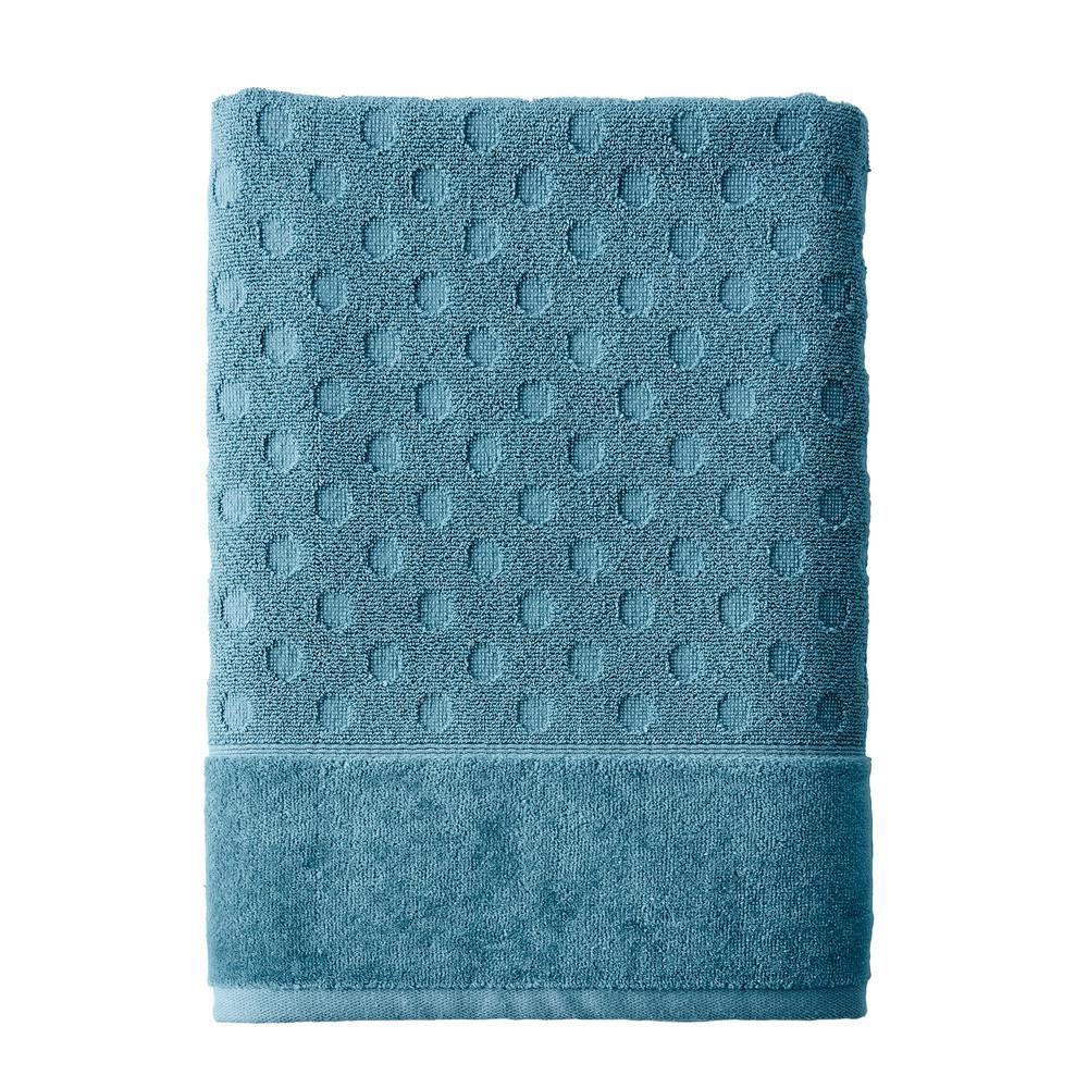 The Company Store Dot Supima Cotton Single Bath Sheet in Shore