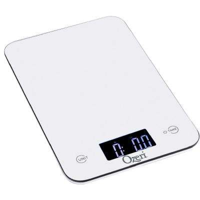 Touch Professional Digital Kitchen Scale (12 lbs. Edition), Tempered Glass in White