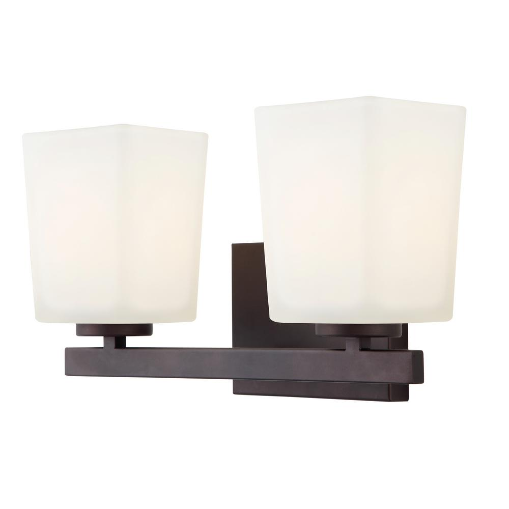Oil Rubbed Bronze Bathroom Lighting Canarm Hartley 2Light Oil Rubbed Bronze Bath Lightivl472A02Orb .