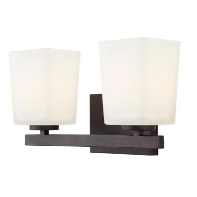 Hartley 2-Light Oil Rubbed Bronze Bath Light