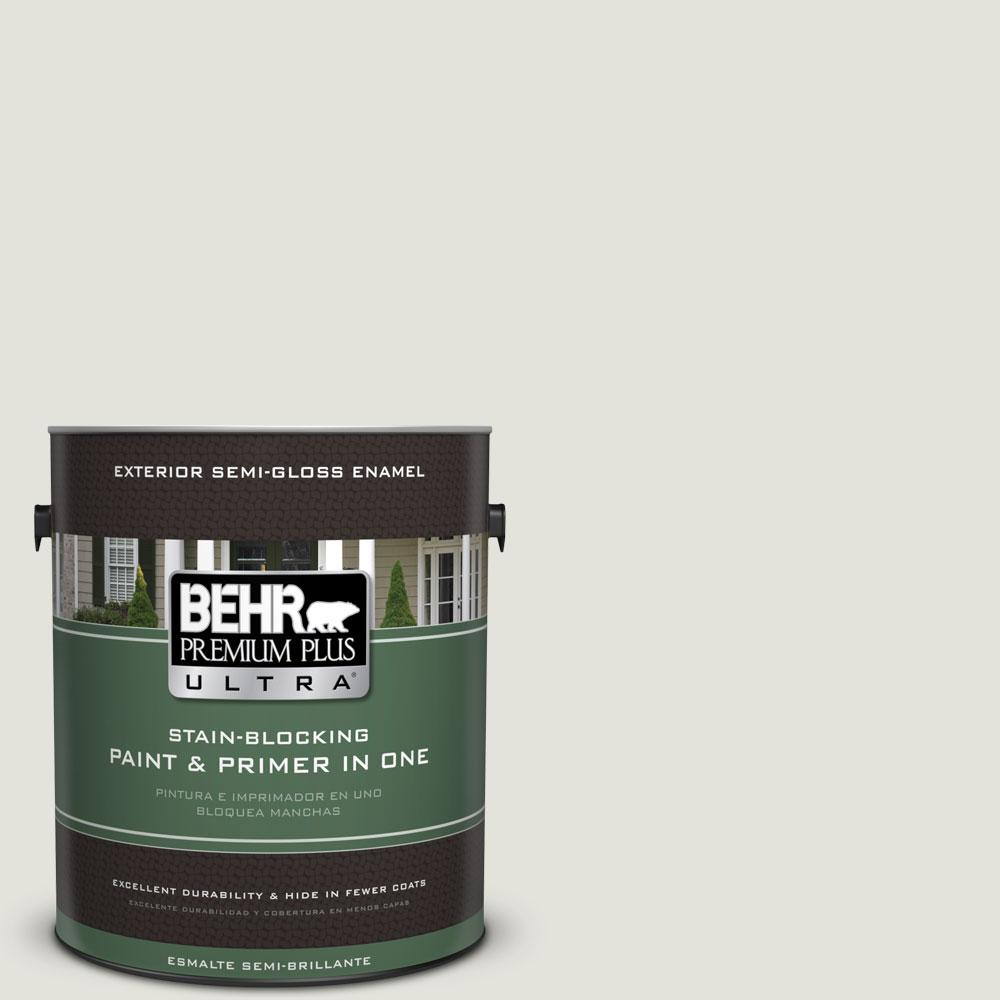 BEHR Premium Plus Ultra Home Decorators Collection 1-gal. #HDC-NT-24 Glacier Valley Semi-Gloss Enamel Exterior Paint