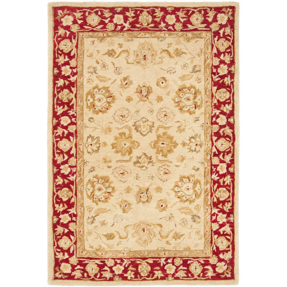 Anatolia Ivory/Red 5 ft. x 8 ft. Area Rug
