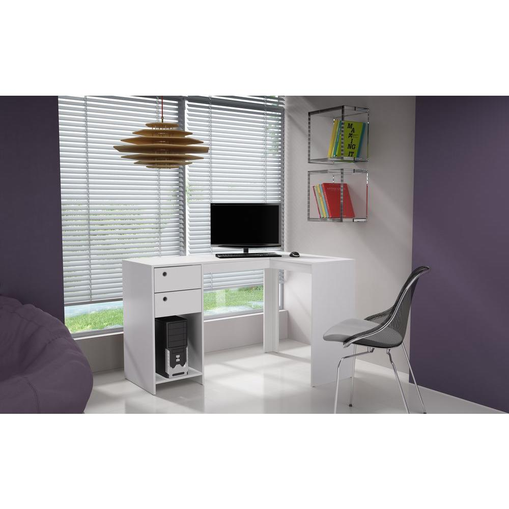 Manhattan Comfort Palermo White Desk