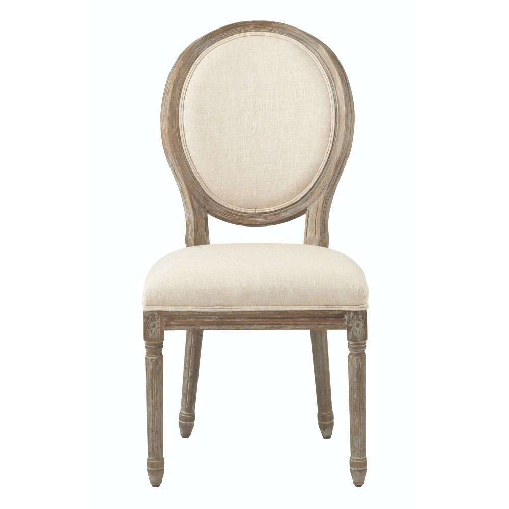 Home Decorators Collection Jacques Antique Brown Natural Linen Round Back  Dining Chair (Set of 2)-9488500350 - The Home Depot - Home Decorators Collection Jacques Antique Brown Natural Linen Round