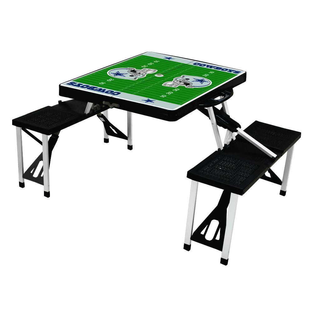 Picnic Time Dallas Cowboys Sport Plastic Outdoor Patio Picnic Table - Dallas cowboys picnic table