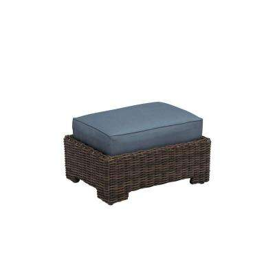Northshore Patio Ottoman with Denim Cushion -- CUSTOM
