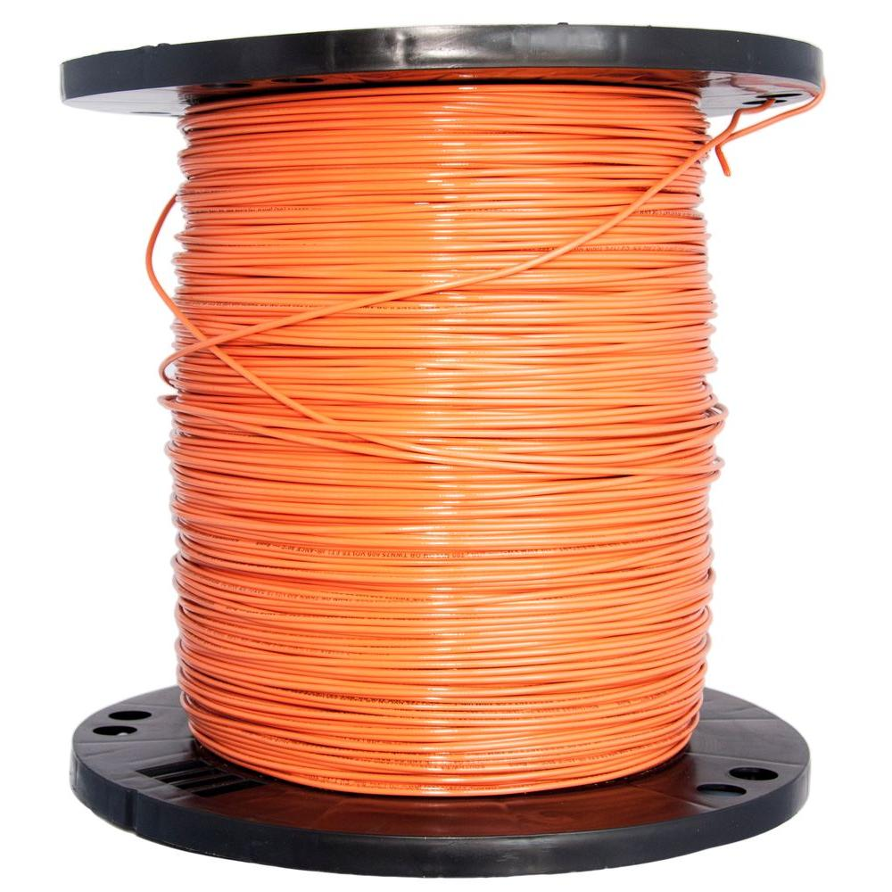 Southwire 2500 ft. 14 Orange Solid CU THHN Wire