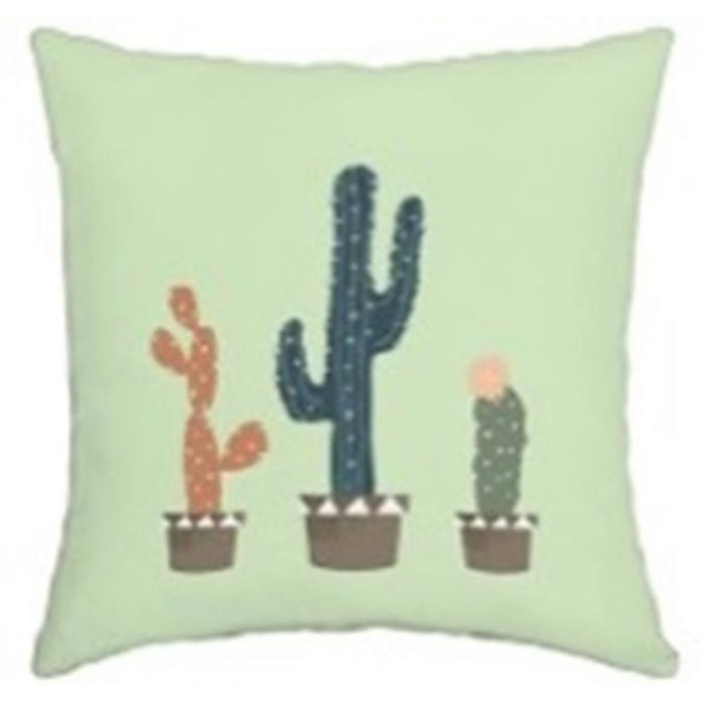 Hampton Bay Charleston Cacti Square Outdoor Throw Pillow