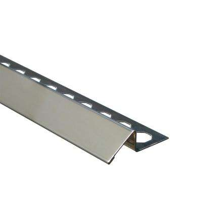 Novonivel Brushed 1/2 in. x 98-1/2 in. Stainless Steel Tile Edging Trim