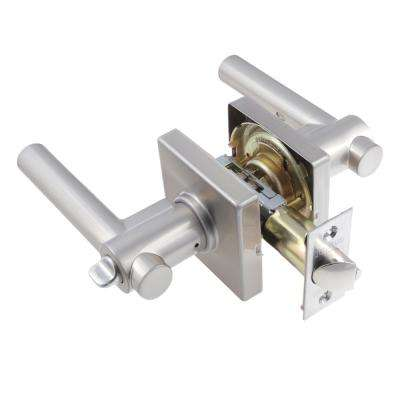 European Satin Nickel Girona Keyed Entry Door Lever Set