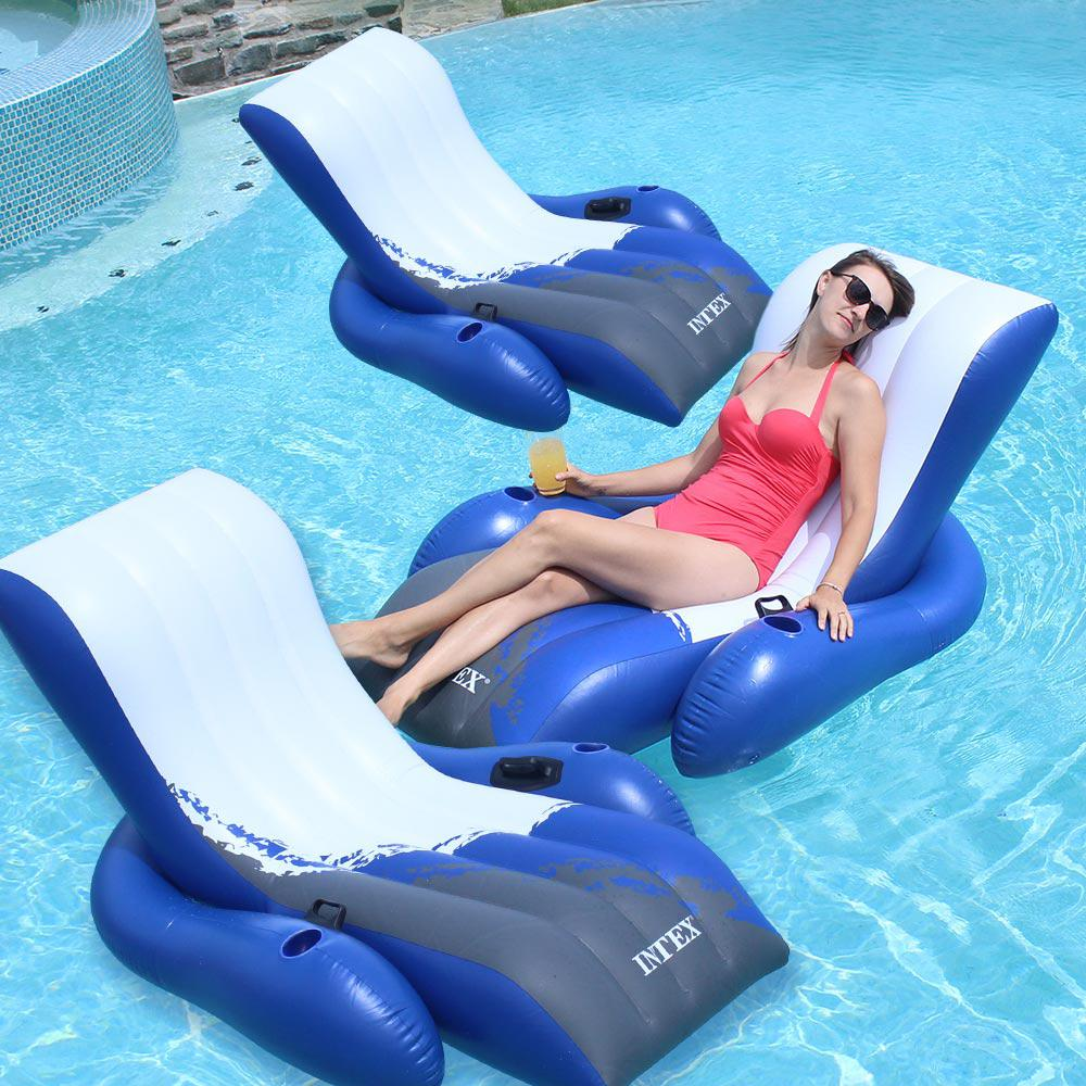 Intex Recreation Floating Recliner Inflatable Lounge Pool...
