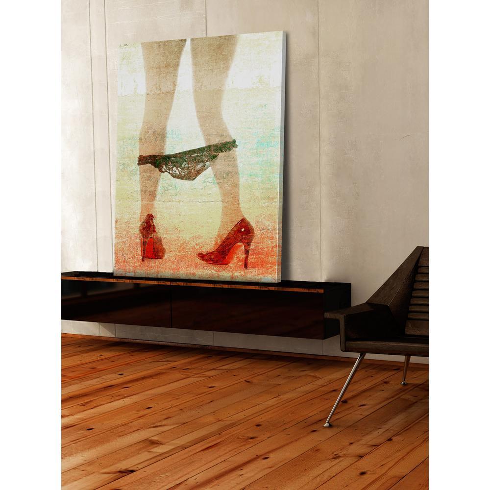 "18 in. H x 12 in. W ""Pants Down"" by Parvez Taj Printed Canvas Wall Art"