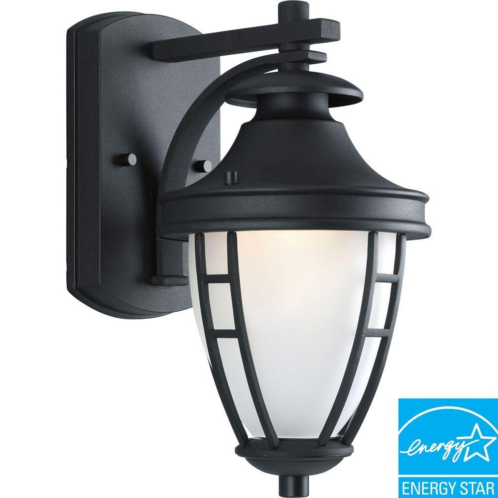 Progress Lighting Fairview Collection Textured Black 1-light Wall Lantern-DISCONTINUED