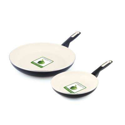 Rio 8 in. and 10 in. Ceramic Nonstick 2-Piece Frypan Set
