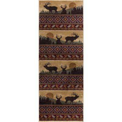 Nature Red 3 ft. x 7 ft. Lodge Runner Rug