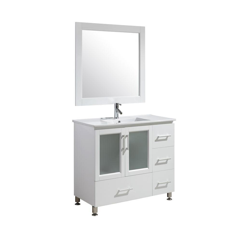 Design Element Stanton 40 In W X 18 In D X 35 In H Vanity In