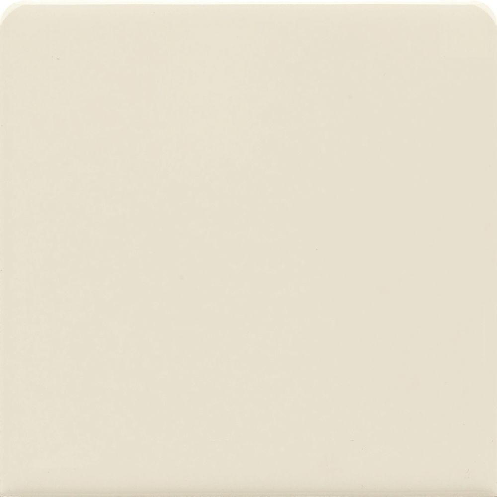 Daltile SemiGloss Almond In X In Ceramic Bullnose Wall Tile - Daltile madison