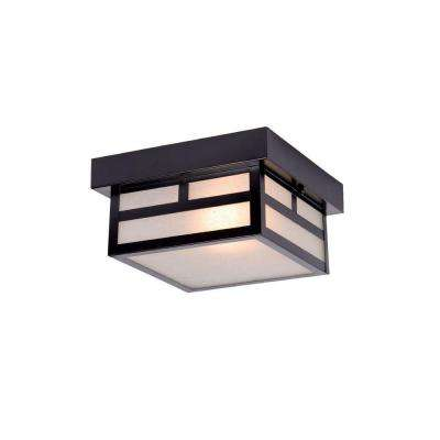 Artisan Collection 1-Light Matte Black Outdoor Ceiling-Mount Light