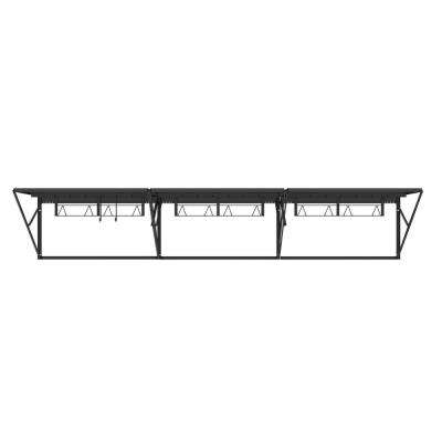 28 in. H x 144 in. W x 28 in. D Heavy Duty Steel Wall Storage Rack
