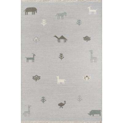 Porter Grey 7 ft. 6 in. x 9 ft. 6 in. Area Rug