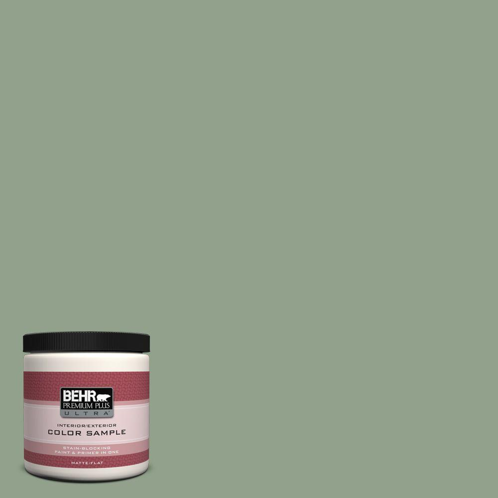 BEHR Premium Plus Ultra 8 oz. #440F-4 Athenian Green Interior/Exterior Paint Sample