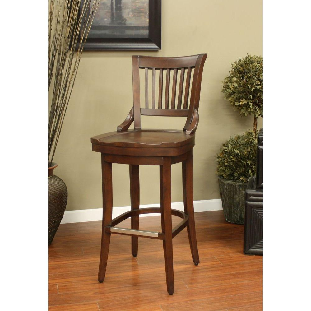 American Heritage Liberty 30 in. Suede Bar Stool