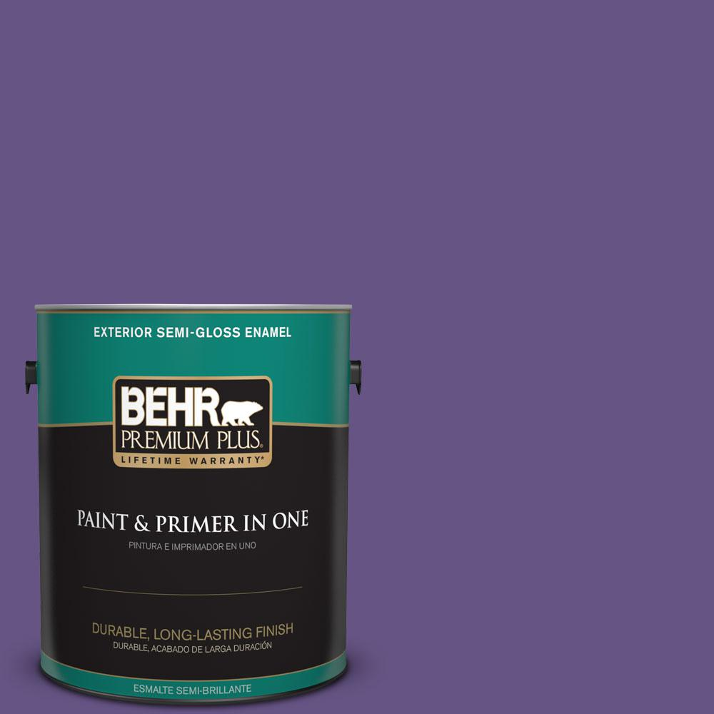 BEHR Premium Plus 1-gal. #640B-7 Berry Jam Semi-Gloss Enamel Exterior Paint
