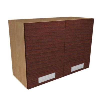 Genoa Ready to Assemble 30 x 21 x 12 in. Wall Cabinet with 2 Soft Close Doors in Cherry