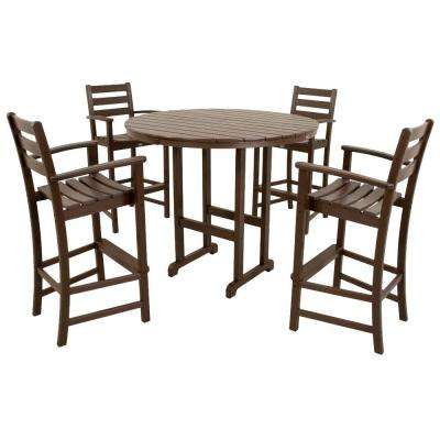Monterey Bay Vintage Lantern 5-Piece Patio Bar Set