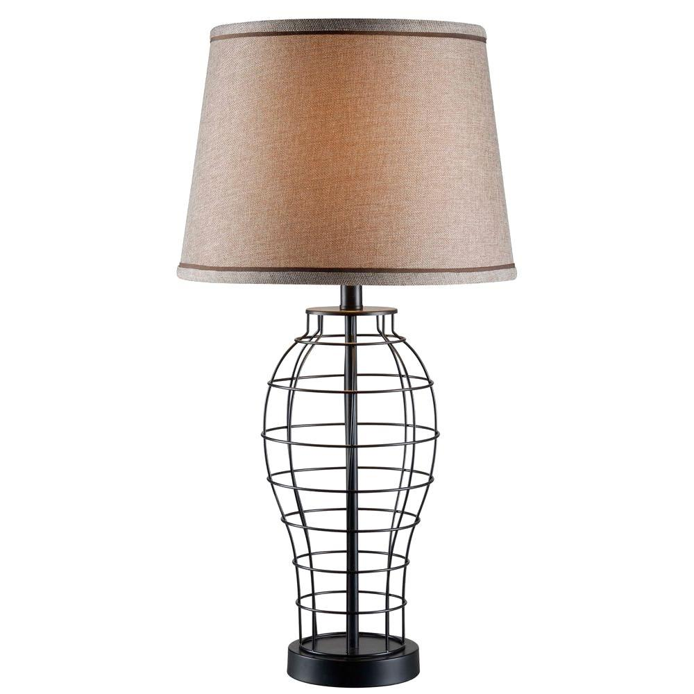 Kenroy Home Dresser 29 in. H Black Table Lamp