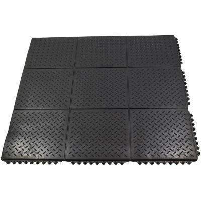 Rubber Spot Clean Commercial Floor Mats Mats The Home Depot - How to clean black rubber gym flooring