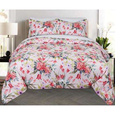 Bouquet Floral Full and Queen Comforter Set