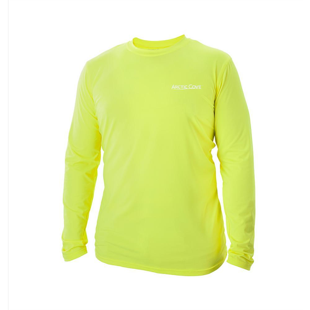 Men's Large Yellow Long Sleeve Shirt