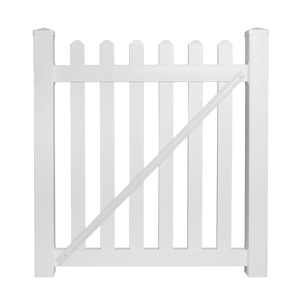 Chelsea 4 ft. W x 5 ft. H White Vinyl Picket