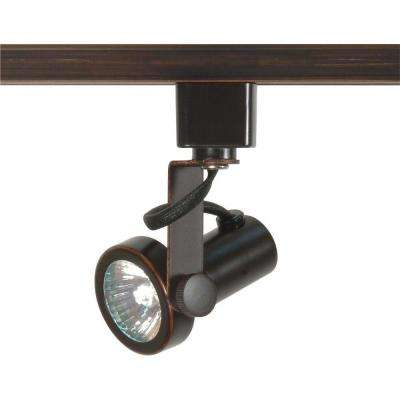 1-Light MR16 120-Volt Russet Bronze Gimbal Ring Track Lighting Head