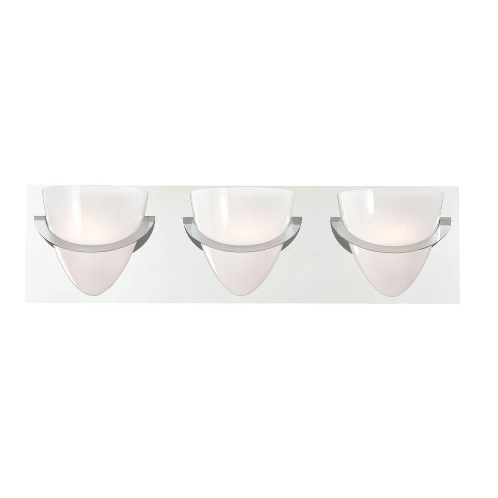 Forma Collection 3-Light Chrome Bath Bar Light