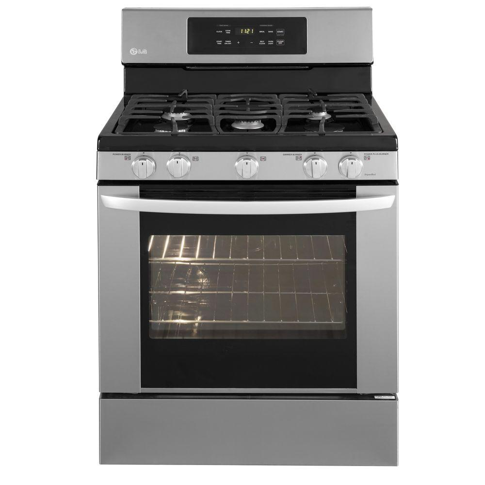 LG Electronics 5.4 cu. ft. Gas Range with Self-Cleaning in Stainless Steel