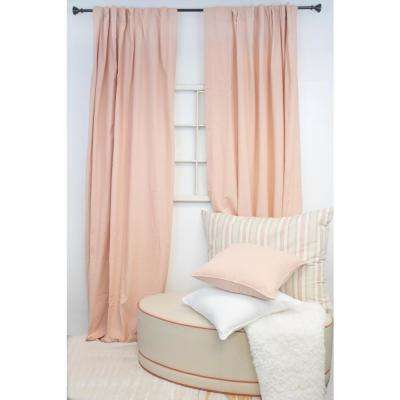 84 in. L Blush Curtain Panel