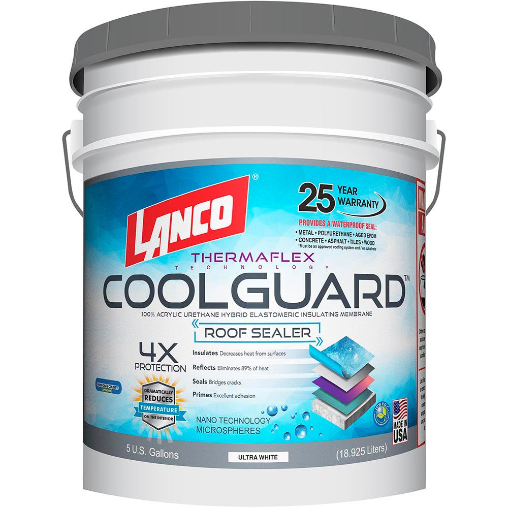 Lanco 5 Gal Coolguard Roof Coating Rc3700 2 The Home Depot