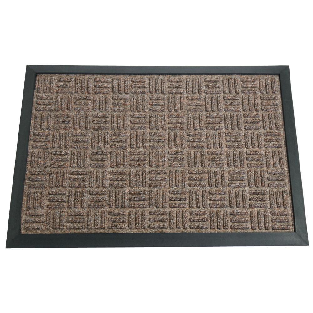 Wellington Carpet Doormat Brown 16 in. x 24 in. Rubber Carpet Mat