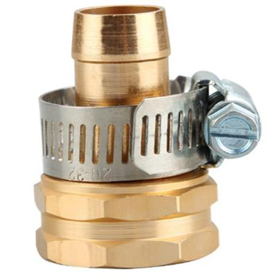 5/8 in. Metal Garden Hose Female Thread Repair with Stainless Steel Clamps