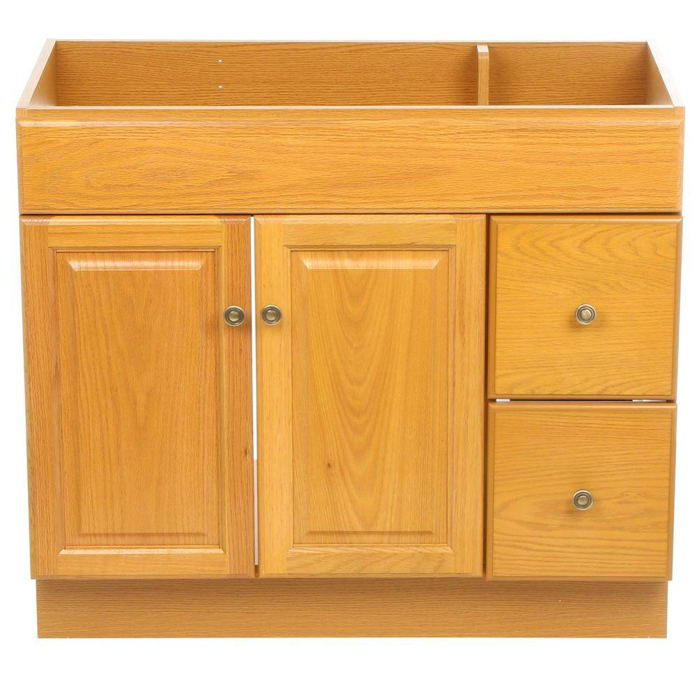 Design House Claremont 36 In. W X 18 In. D Unassembled Vanity Cabinet Only In Honey Oak-545178