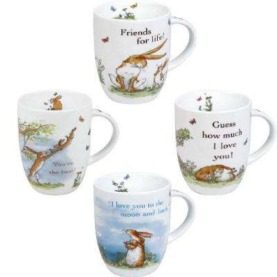 Konitz 4-Piece Assorted Guess How Much I Love You Collection Porcelain Mug Set