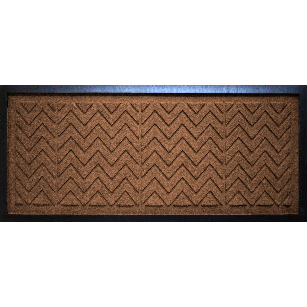 Dark Brown 15 in. x 36 in. x 0.5 in. Chevron