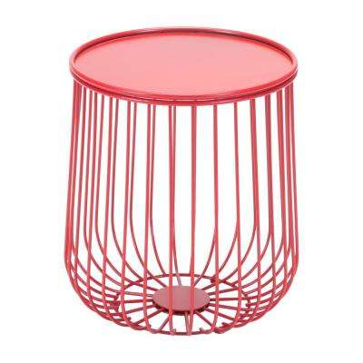 Gilbert Red Metal Outdoor Side Table