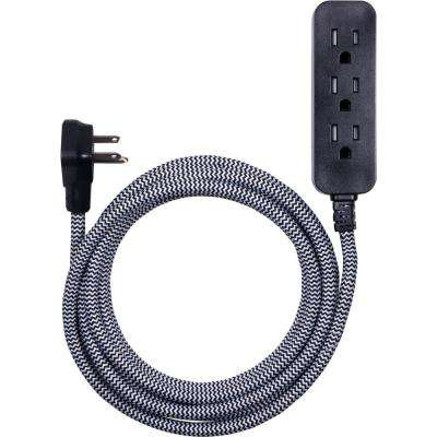 10 ft. 3-Outlet Extension Cord black in White