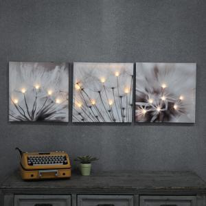 Winsome House 3 Dandelions Printed Wall Art With Led