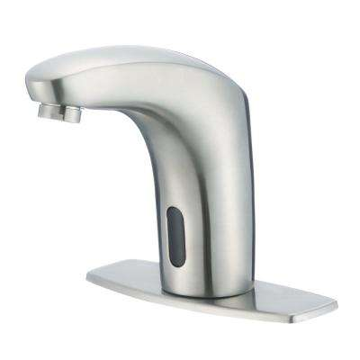 Nelson Battery Powered Single Hole Touchless Bathroom Faucet in Brushed Nickel