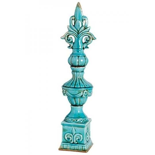 Home Decorators Collection 29 in. H Blue Andrea Finial