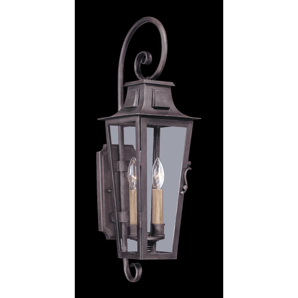 french outdoor lighting. Troy Lighting French Quarter 2-Light Aged Pewter Outdoor Wall Mount Lantern